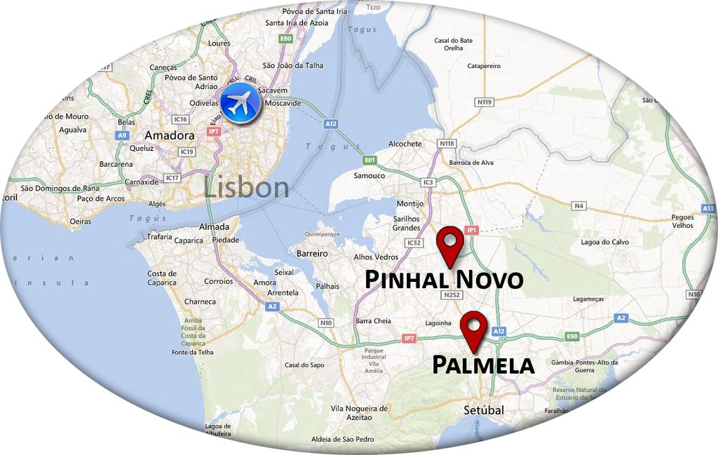 mapa do pinhal novo Venue and Access mapa do pinhal novo